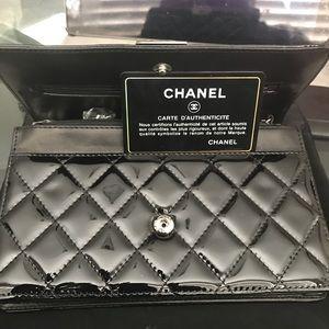 Chanel  black classic silver